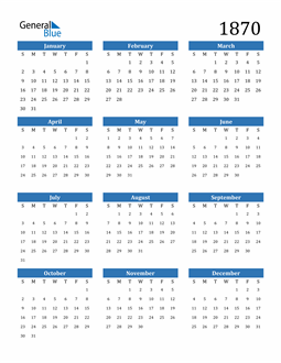 Image of 1870 1870 Calendar