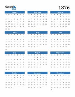 Image of 1876 1876 Calendar