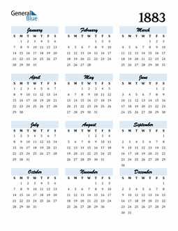 Image of 1883 1883 Calendar Cool and Funky