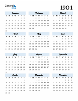 Image of 1904 1904 Calendar Cool and Funky