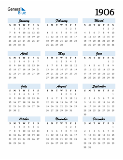 Image of 1906 1906 Calendar Cool and Funky