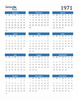 Image of 1971 1971 Calendar