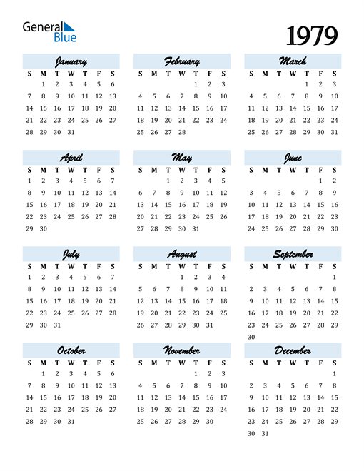 Image of 1979 1979 Calendar Cool and Funky