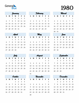 Image of 1980 1980 Calendar Cool and Funky