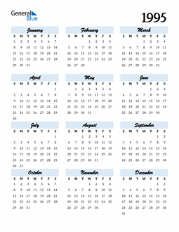 Image of 1995 1995 Calendar Cool and Funky