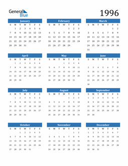 Image of 1996 1996 Calendar