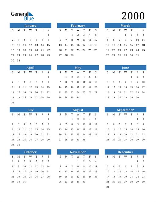 Image of 2000 2000 Calendar