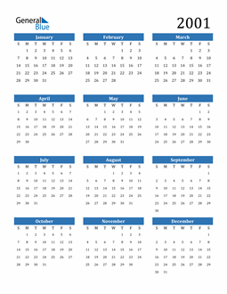 Image of 2001 2001 Calendar