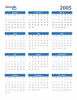 Image of 2005 2005 Calendar
