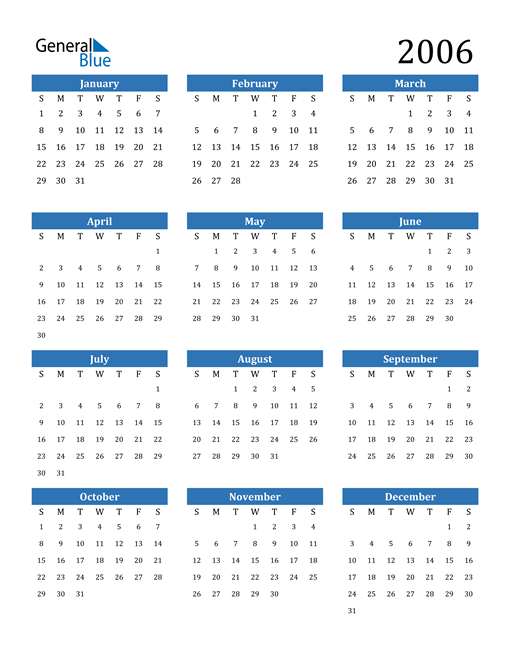 Image of 2006 2006 Calendar