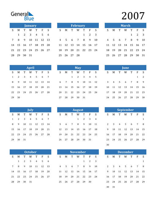 Image of 2007 2007 Calendar