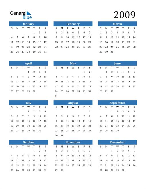 Image of 2009 2009 Calendar