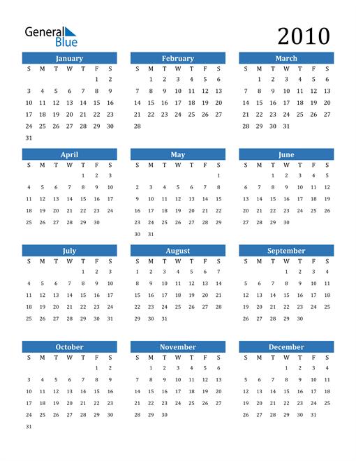 Image of 2010 2010 Calendar