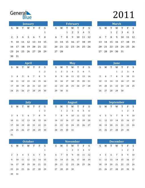 Image of 2011 2011 Calendar