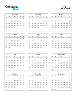 Image of 2012 2012 Calendar Streamlined