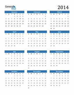 Image of 2014 2014 Calendar