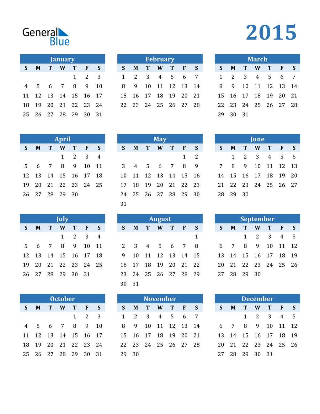Calendar 2015 Free Stock Photo - Public Domain Pictures