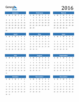 Image of 2016 2016 Calendar