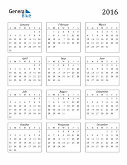 Image of 2016 2016 Calendar Streamlined
