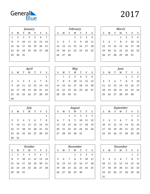 Image of 2017 2017 Calendar Streamlined