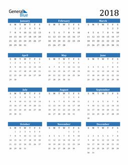 Image of 2018 2018 Calendar