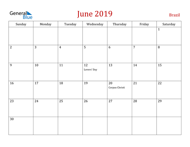 Image of June 2019 Dark and Red Professional Office Calendar Calendar