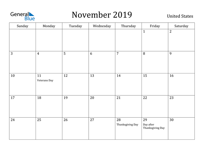 Image of Monthly Calendar