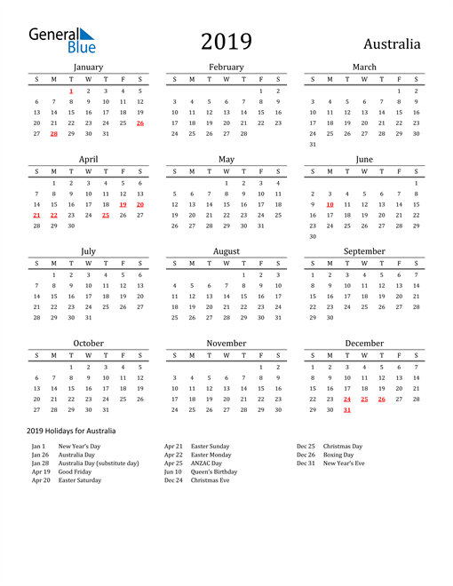2019 Yearly Calendar Template Word from cdn.generalblue.com