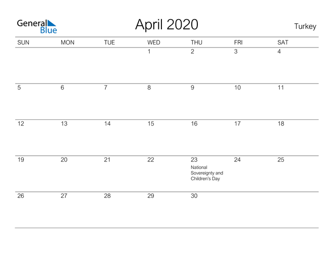 April 2020 A Streamlined Design, The Perfect Printable Calendar. Calendar