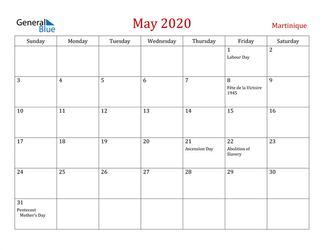 Image of May 2020 Dark and Red Professional Office Calendar Calendar