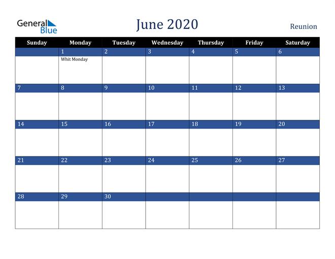June 2020 Reunion Calendar