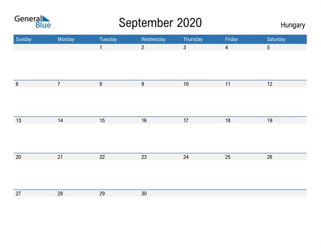 Fillable September 2020 Calendar