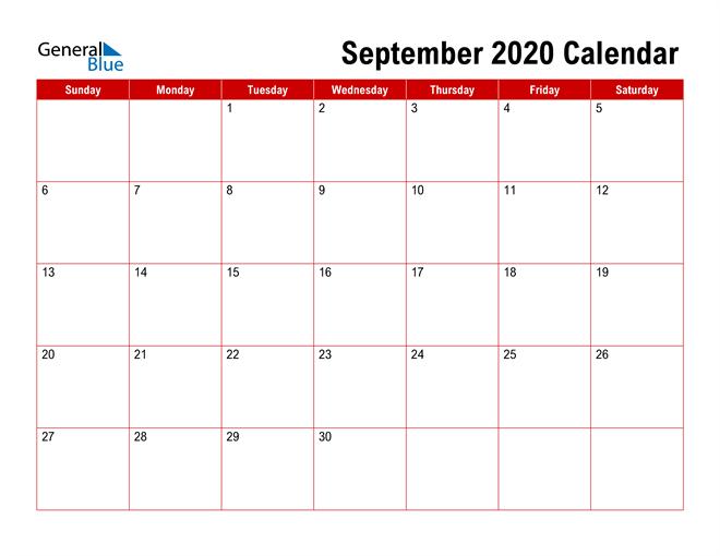 Simple Monthly Calendar