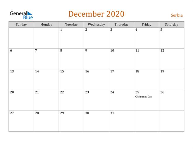 December 2020 Contemporary Orange PDF, Word and Excel Calendar Calendar