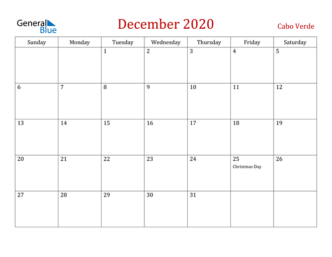 Image of December 2020 Dark and Red Professional Office Calendar Calendar