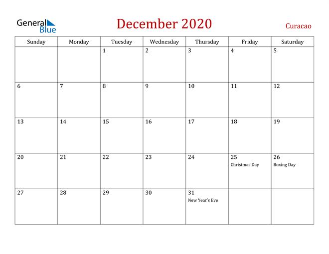 Image of December 2020 Dark and Red Professional Office Calendar Calendar