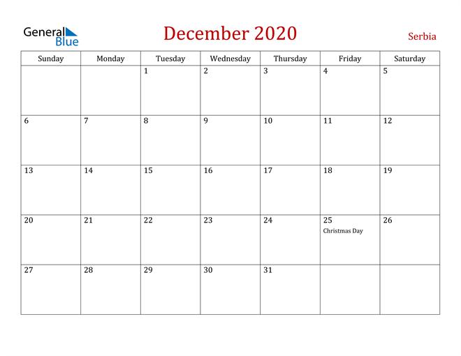 December 2020 Dark and Red Professional Office Calendar Calendar