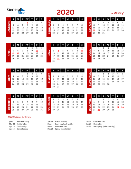 Download Jersey 2020 Calendar