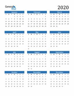 Image of 2020 2020 Calendar