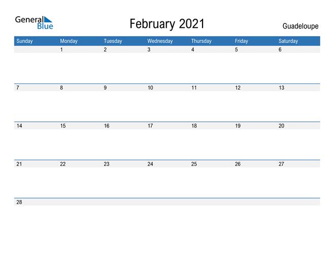 Fillable February 2021 Calendar