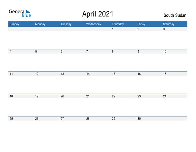 Fillable April 2021 Calendar