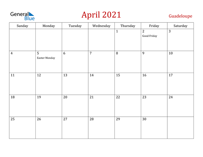 Image of April 2021 Dark and Red Professional Office Calendar Calendar