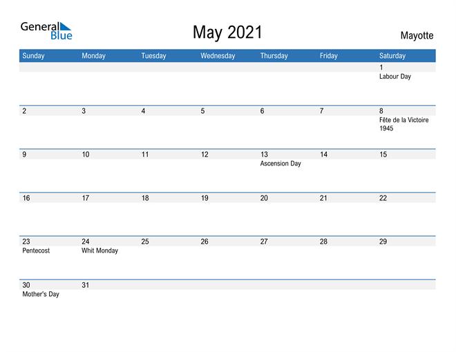 Fillable May 2021 Calendar