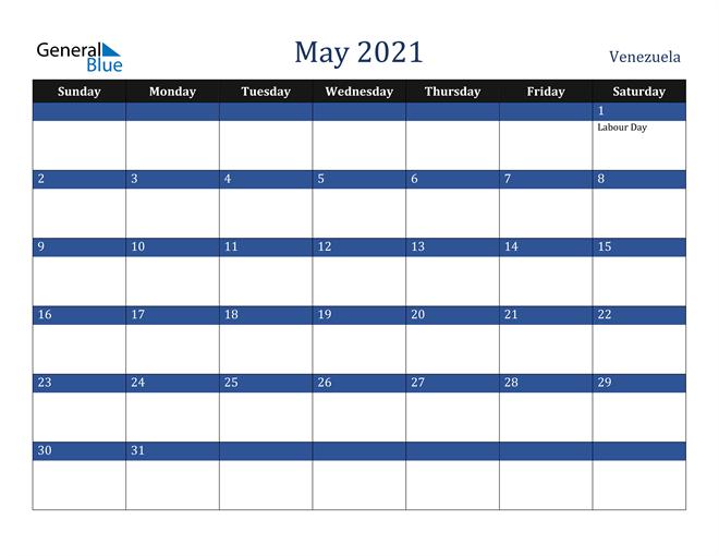 May 2021 Venezuela Calendar
