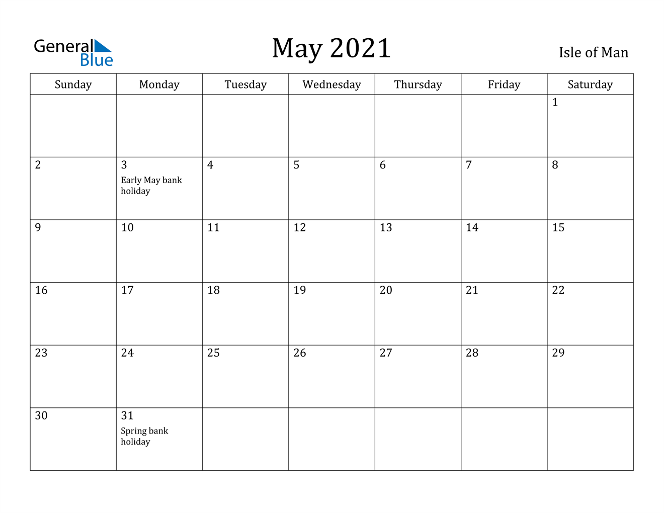 May 2021 Calendar Holidays May 2021 Calendar   Isle of Man