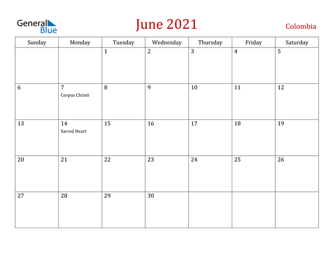 Image of June 2021 Dark and Red Professional Office Calendar Calendar