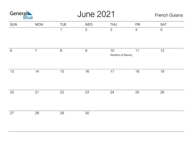 Image of June 2021 A Streamlined Design, The Perfect Printable Calendar. Calendar