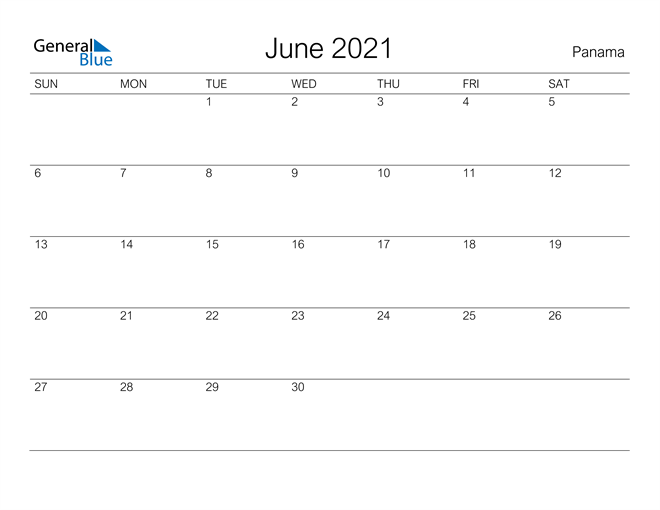 Image of June 2021 A Streamlined Design, The Perfect Printable Calendar. Calendar