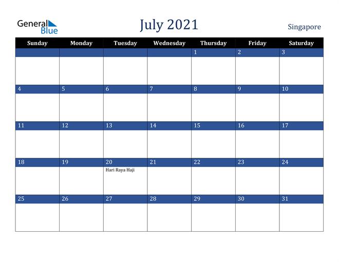 July 2021 Stylish Dark Blue Calendar in PDF, Word and Excel Calendar