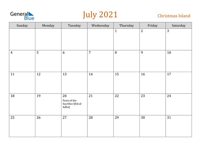 Image of July 2021 Contemporary Orange PDF, Word and Excel Calendar Calendar